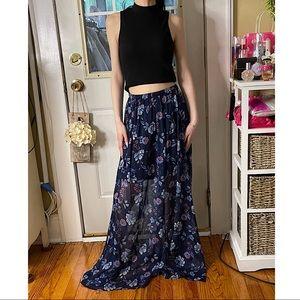 Hollister Maxi Chiffon Skirt